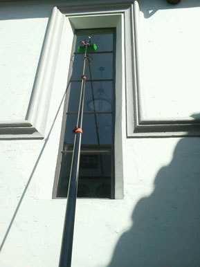 cleaning tall window